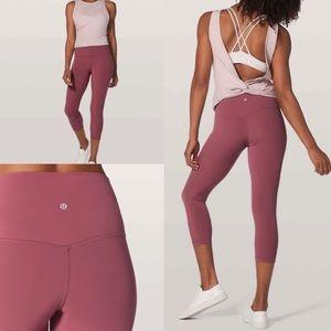 "lululemon athletica Pants - Nwt lululemon 21"" misty metlot crop align legging"